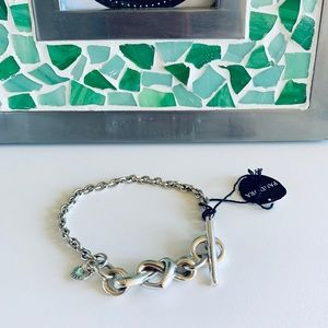 Pandora Knotted Heart T-Bar Bracelet